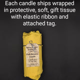Shipwreck Honey Seattle WA Beeswax Candle Fleur De Lis Sphere Beeswax Candle Packaging