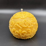 Shipwreck Honey Seattle WA Beeswax Candle Fleur De Lis Sphere Beeswax Candle View