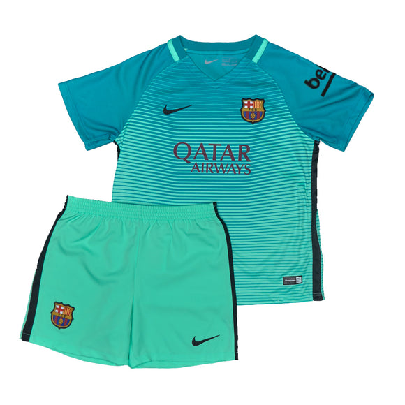 Boys Barcelona Away Football Jersey & Shorts