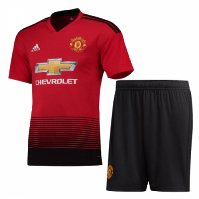 Original Boys Manchester United Premium Home Jersey & Shorts 2018-19