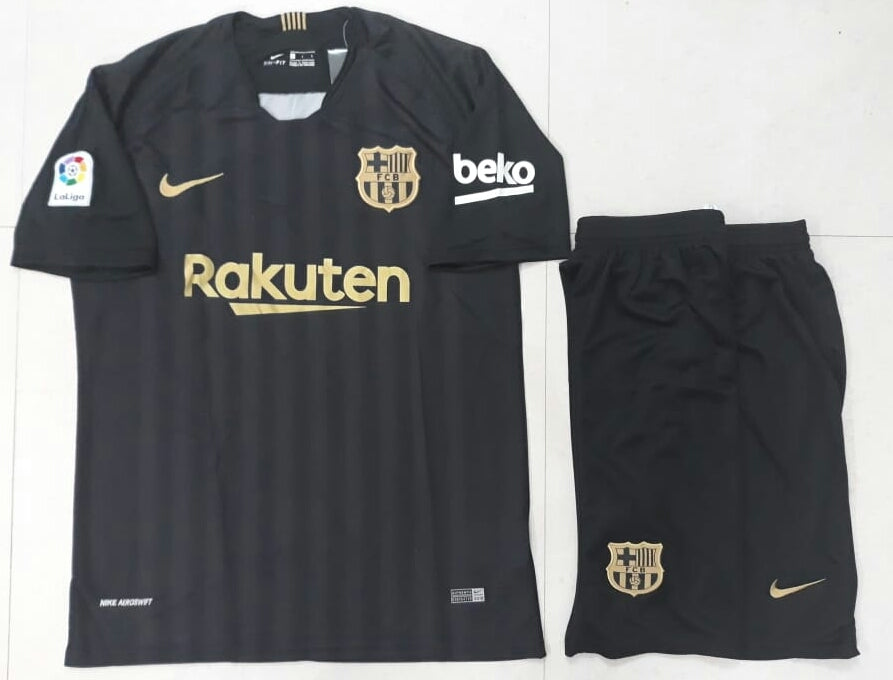 reputable site 7553a 5c955 Rare Original Barcelona Black and Golden Premium Jersey & Shorts [Optional]  2018-19