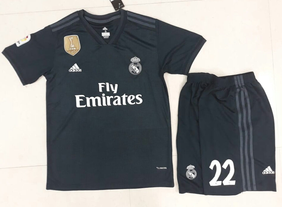 on sale f5e12 50152 Original Isco Real Madrid Premium Away Jersey & Shorts [Optional] 2018-19