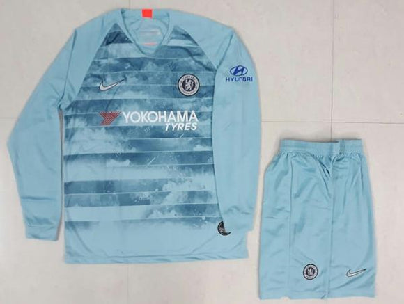 Original Chelsea 3rd Full Sleeve Premium Jersey and Shorts [Optional] 2018-19