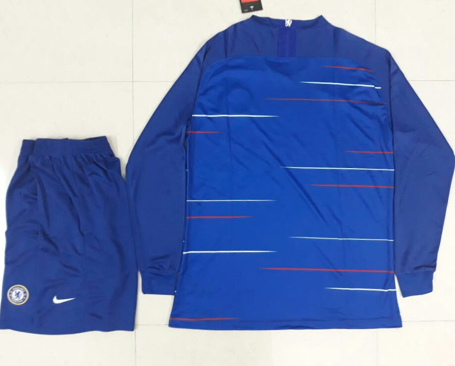 b7e383cac Original Chelsea Full Sleeve Premium Home Jersey and Shorts [Optional] 2018- 19. Size Charts