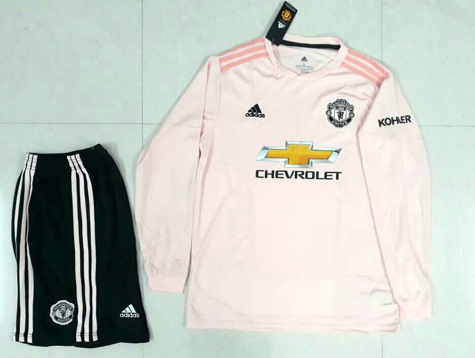 bf4fea06a ... Original Manchester United Premium Away Full Sleeve Jersey   Shorts   Optional  2018- ...