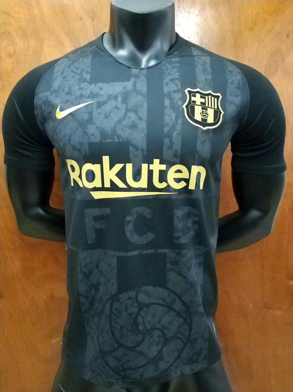 Rare Original Barcelona Black and Golden Jersey 2018-19 [Superior Quality]