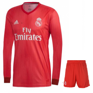 reputable site 3c7ae 84331 Original Real Madrid Full sleeve Premium 3rd Jersey & Shorts [Optional]  2018-19