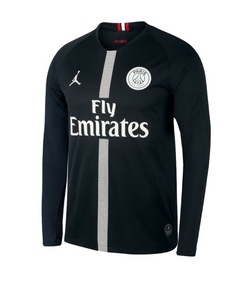 5929a1e3a86 Original Jordan X Black PSG Full Sleeve Champions League Edition Jersey  2018-19 [Superior