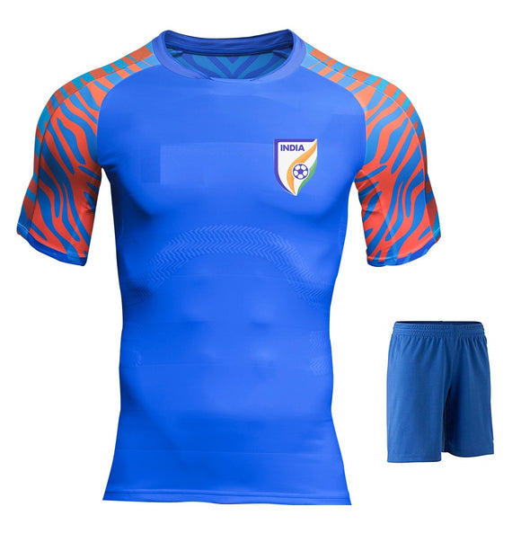 India International Football Home Jersey & Shorts 2019 [Latest Edition]