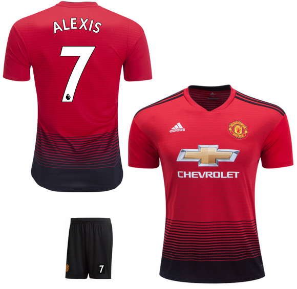 Original Alexis Manchester United Premium Home Jersey & Shorts 2018-19