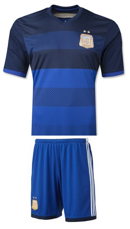 Argentina Away Football Jersey and Shorts