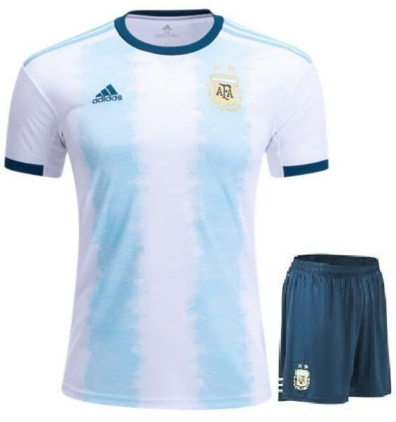 Original Argentina International Premium Home Jersey & Shorts [Optional] 2019
