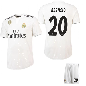more photos 80637 f5fa7 Original Asensio Real Madrid Premium Home Jersey & Shorts [Optional] 2018-19