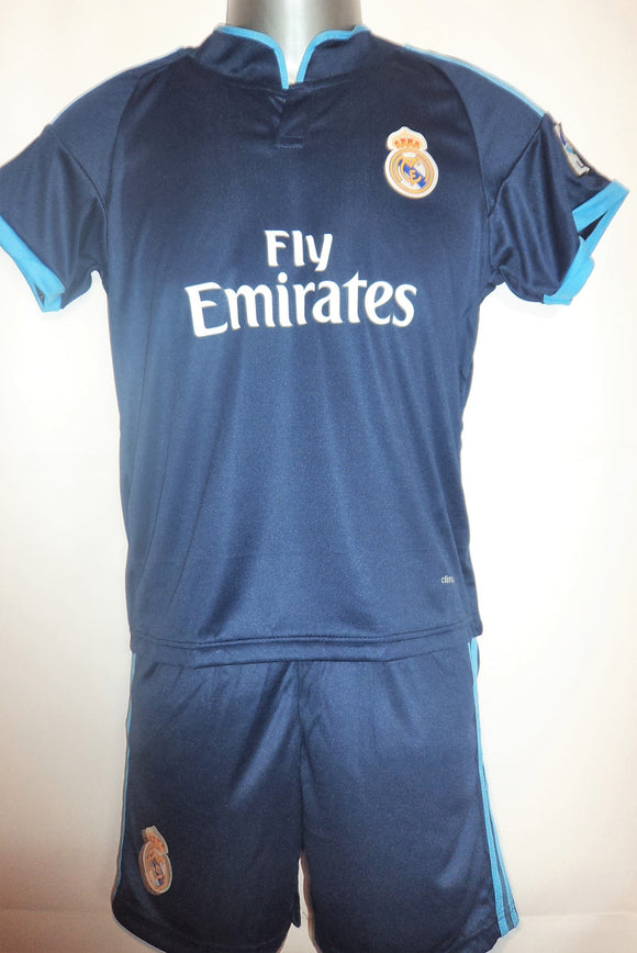 Real Madrid Kids Away Football Jersey and Shorts 2015-16