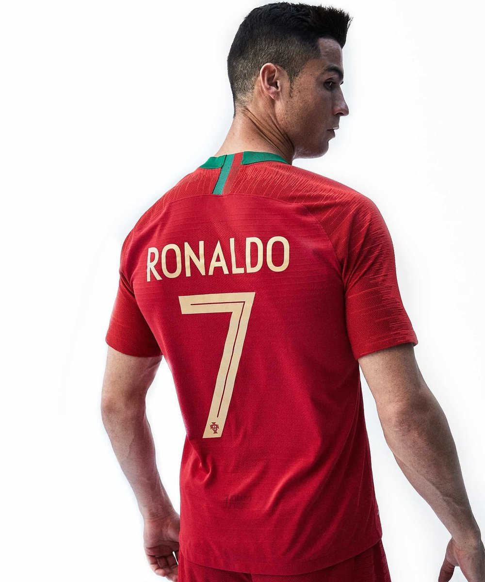 lowest price 256b8 44682 Original Ronaldo Portugal Premium Home Jersey World Cup 2018