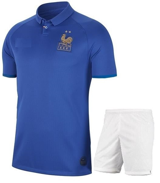 Original France 100years Special Edition International Premium Home Jersey & Shorts [Optional] 2019