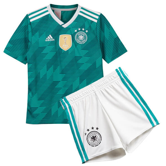 Boys Original Germany Premium Away Jersey & Shorts World Cup 2018