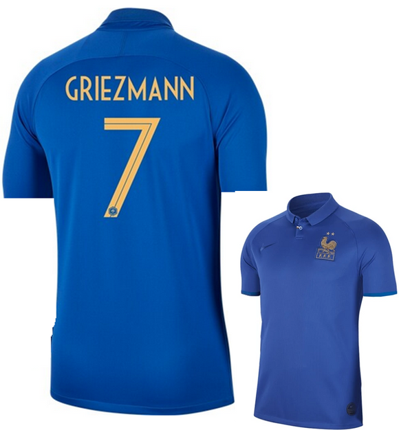 Original Griezmann France 100years Special Edition International Premium Home Jersey 2019 [Superior Quality]