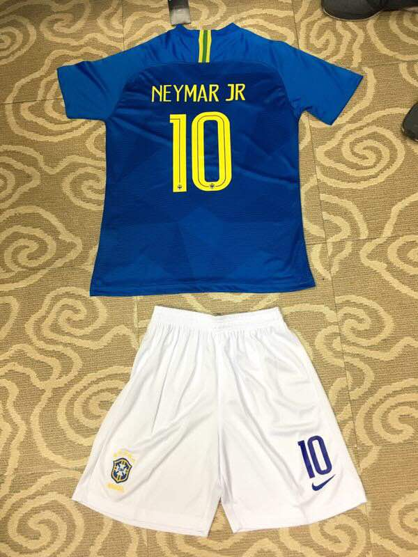 1941473b6 ... Original Neymar Brazil Premium Away Jersey   Shorts World Cup 2018 ...