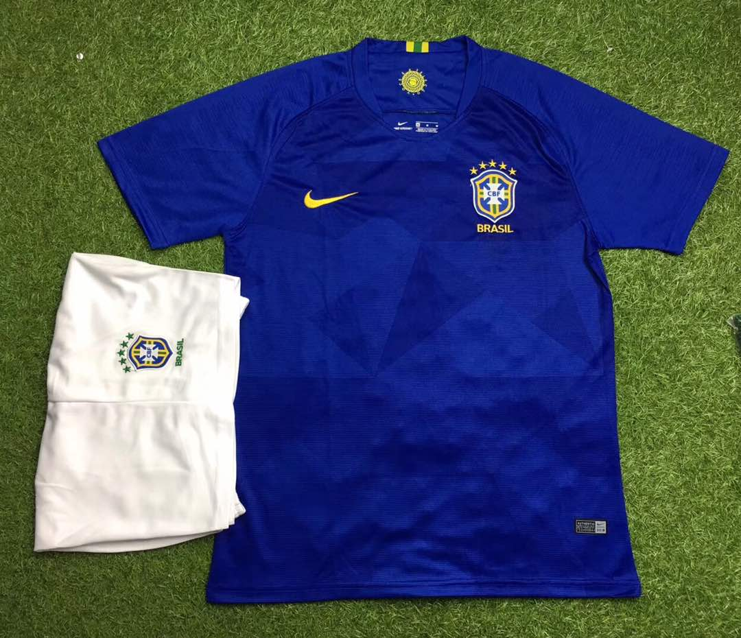 6d5b57885 Neymar Brazil Jersey FIFA World Cup 2018 replica kit online India ...