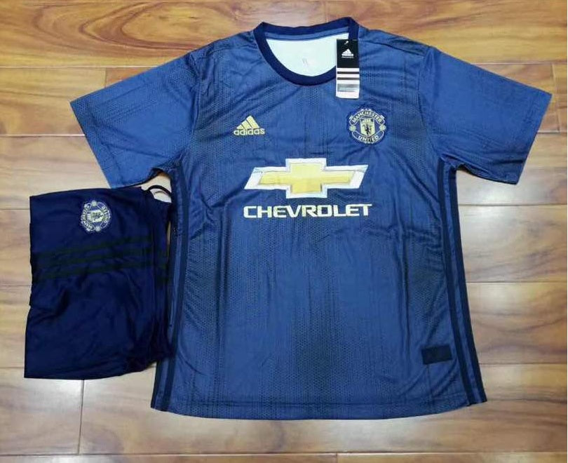 the best attitude cd556 fcd85 Original Manchester United Premium 3rd Kit Jersey and Shorts [Optional]  2018-19
