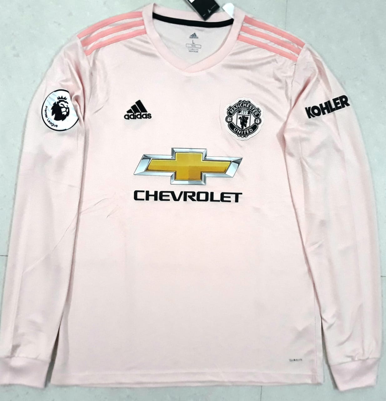 579ad026b ... Original Manchester United Full Sleeve Premier League Edition Away  Jersey 2018-19  Superior Quality