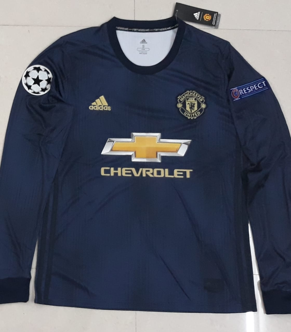 huge selection of 34ad2 b2c8e Original Manchester United Full Sleeve Champions League Edition 3rd Jersey  2018-19 [Superior Quality]