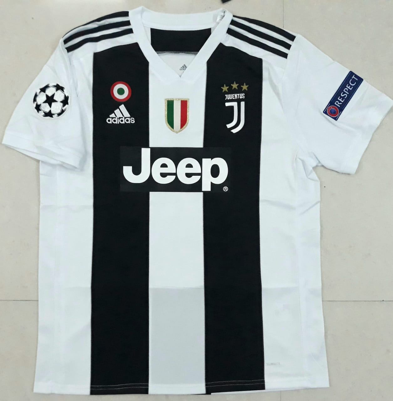 03d4eff1f6f ... Original Dybala Juventus Home Jersey Champions League Edition 2018-19  (with Italia logos) ...