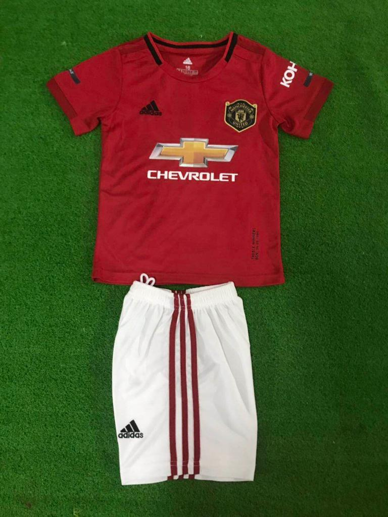 detailed look 70941 541a1 Kids/Youth Original Manchester United Premium Home Jersey & Shorts 2019/20