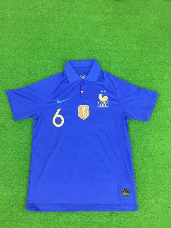 Original Pogba France 100years Special Edition International Premium Home Jersey 2019 [Superior Quality]