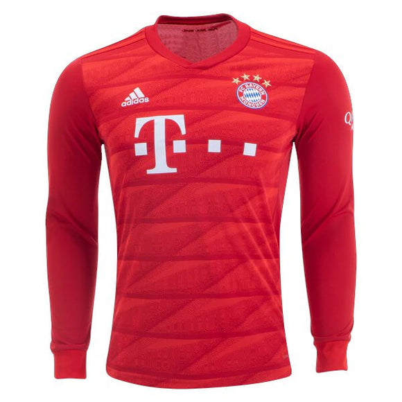 Original Bayern Munich Home Full Sleeve Premium Jersey & Shorts [Optional] 2019/20