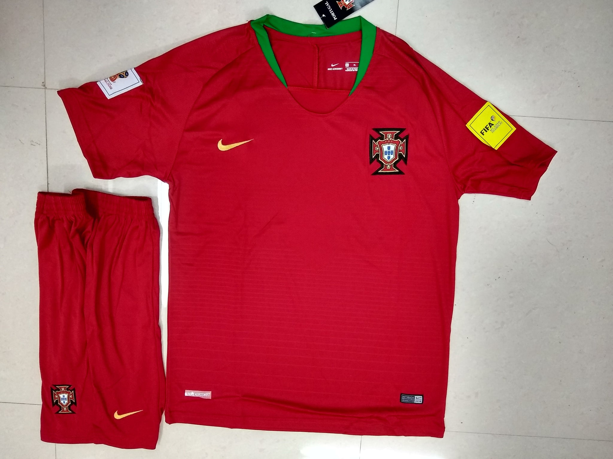 ... Replica Portugal Home Football Jersey   Shorts FIFA World Cup ... 846faa91c