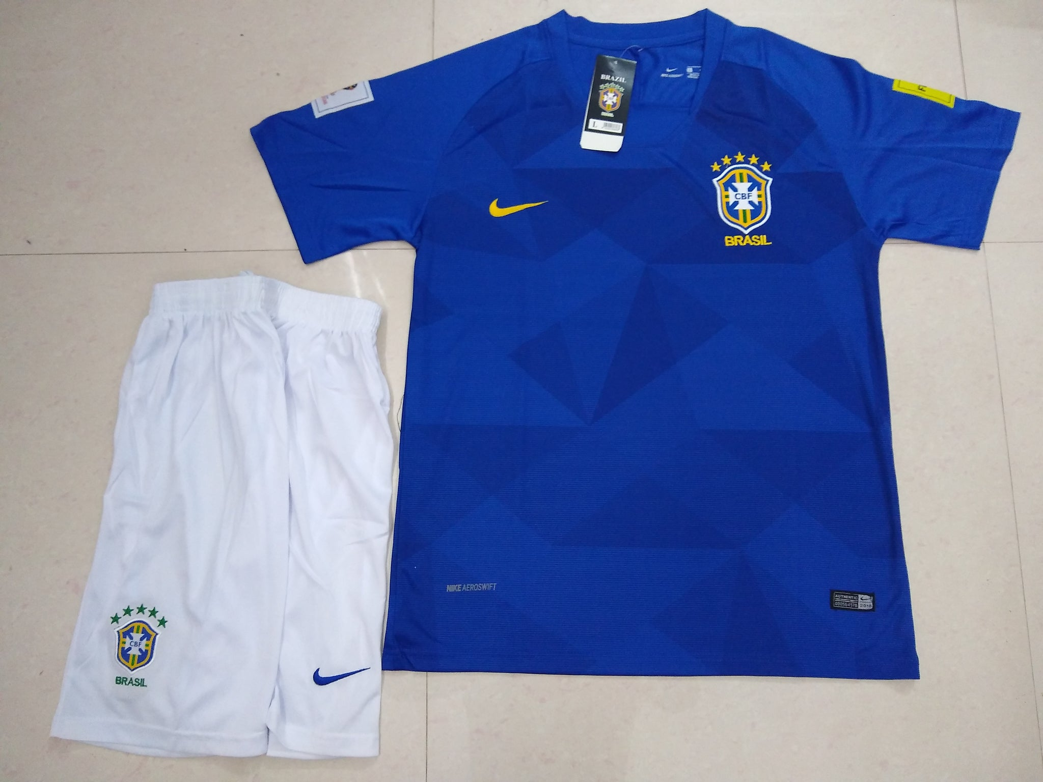 35f7dac0730 Brazil Football Jersey FIFA World Cup 2018 replica kit online India ...
