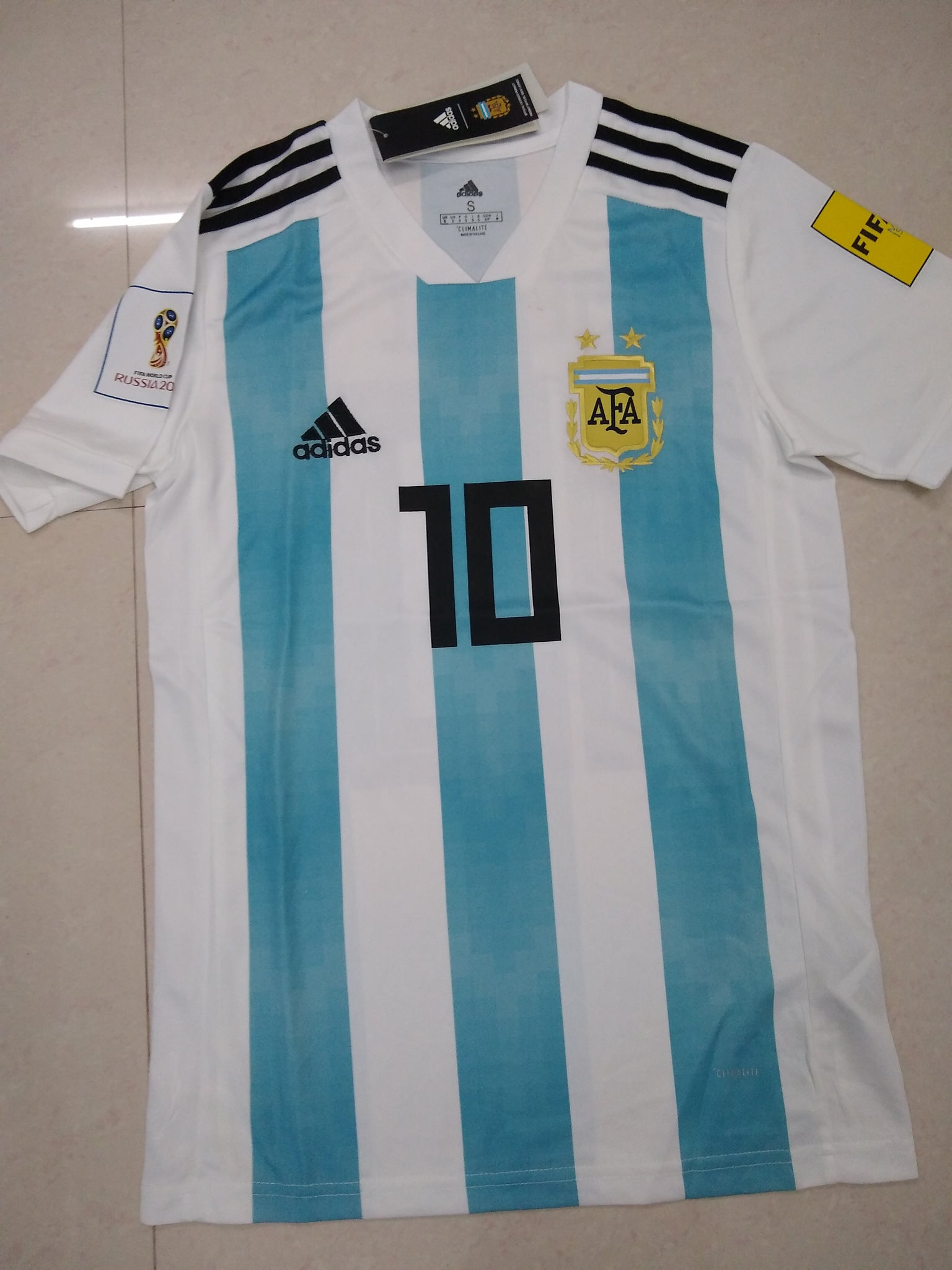 6eee9bfec46 Argentina Football Jersey FIFA World Cup 2018 replica kit online ...
