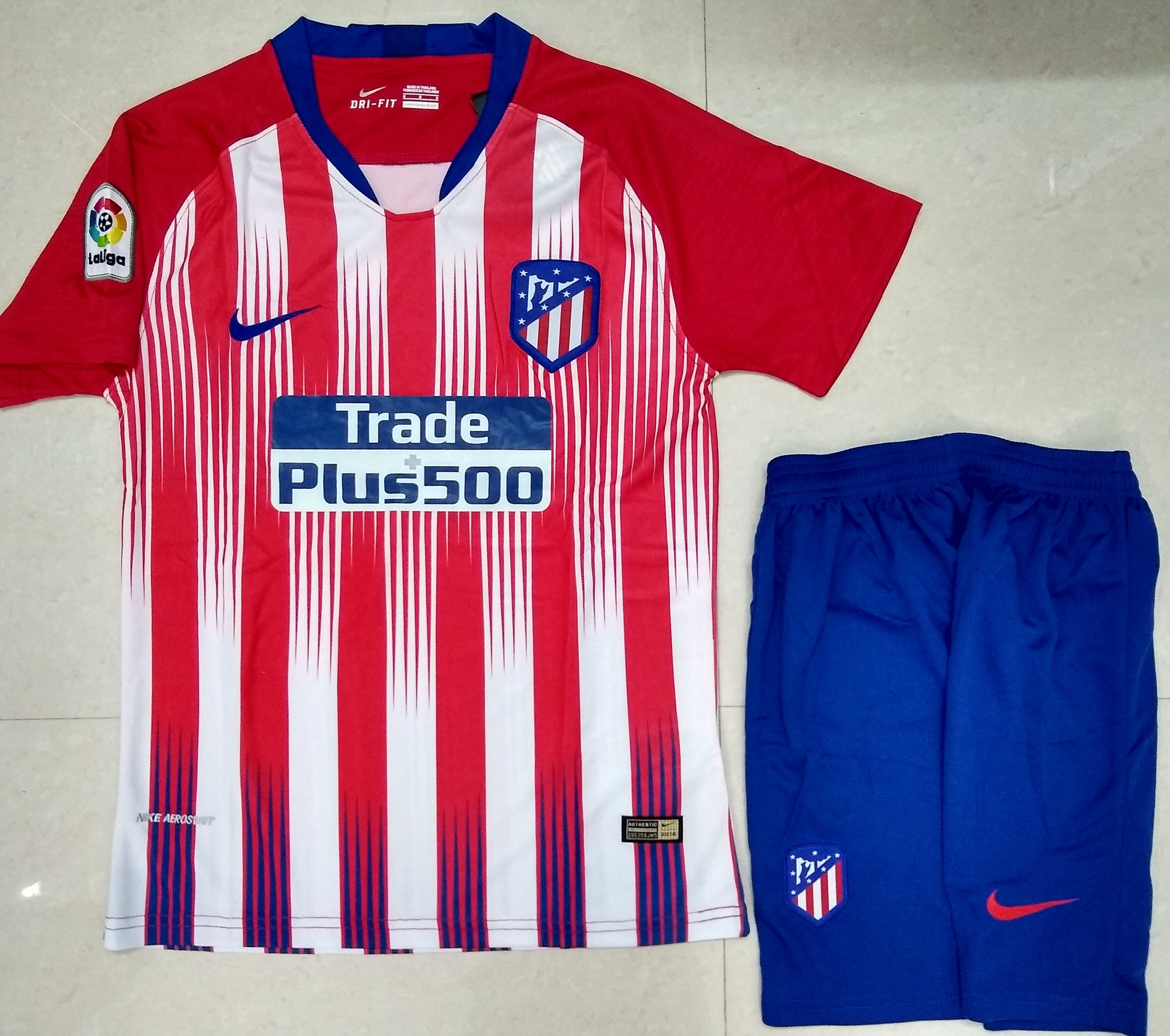 huge selection of e8986 f4210 Original Atletico Madrid Premium Home Jersey & Shorts [Optional] 2018-19