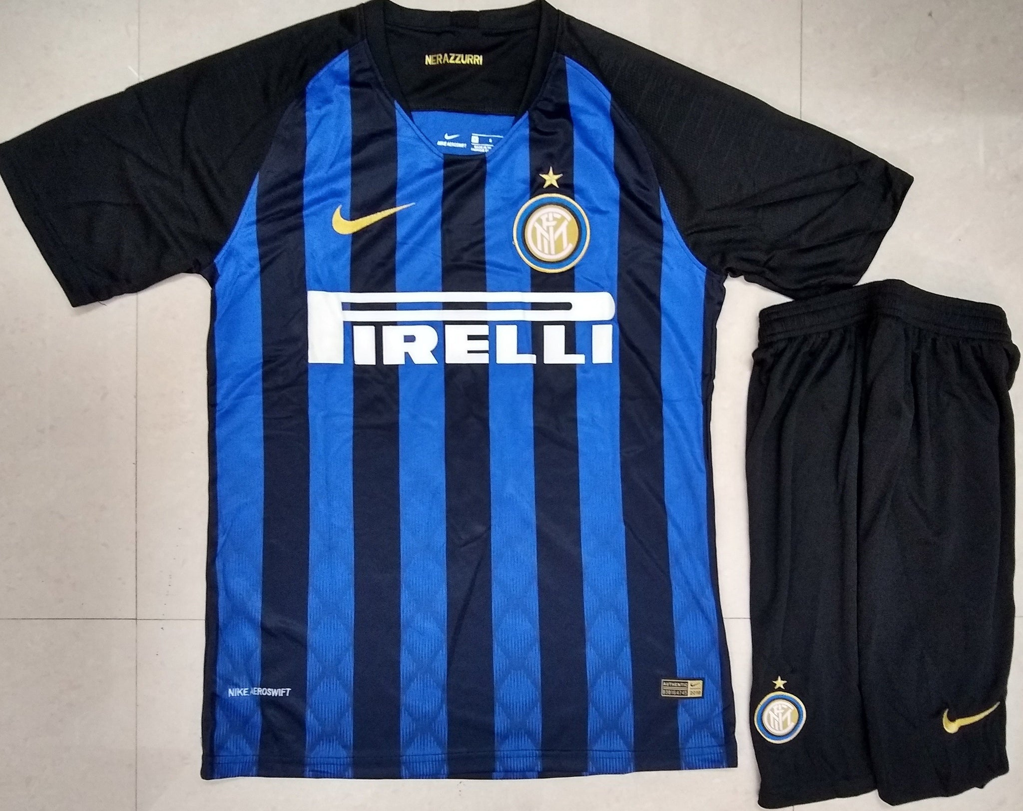first rate 8cc44 2ce46 Original Inter Milan Premium Home Jersey and Shorts [Optional] 2018-19