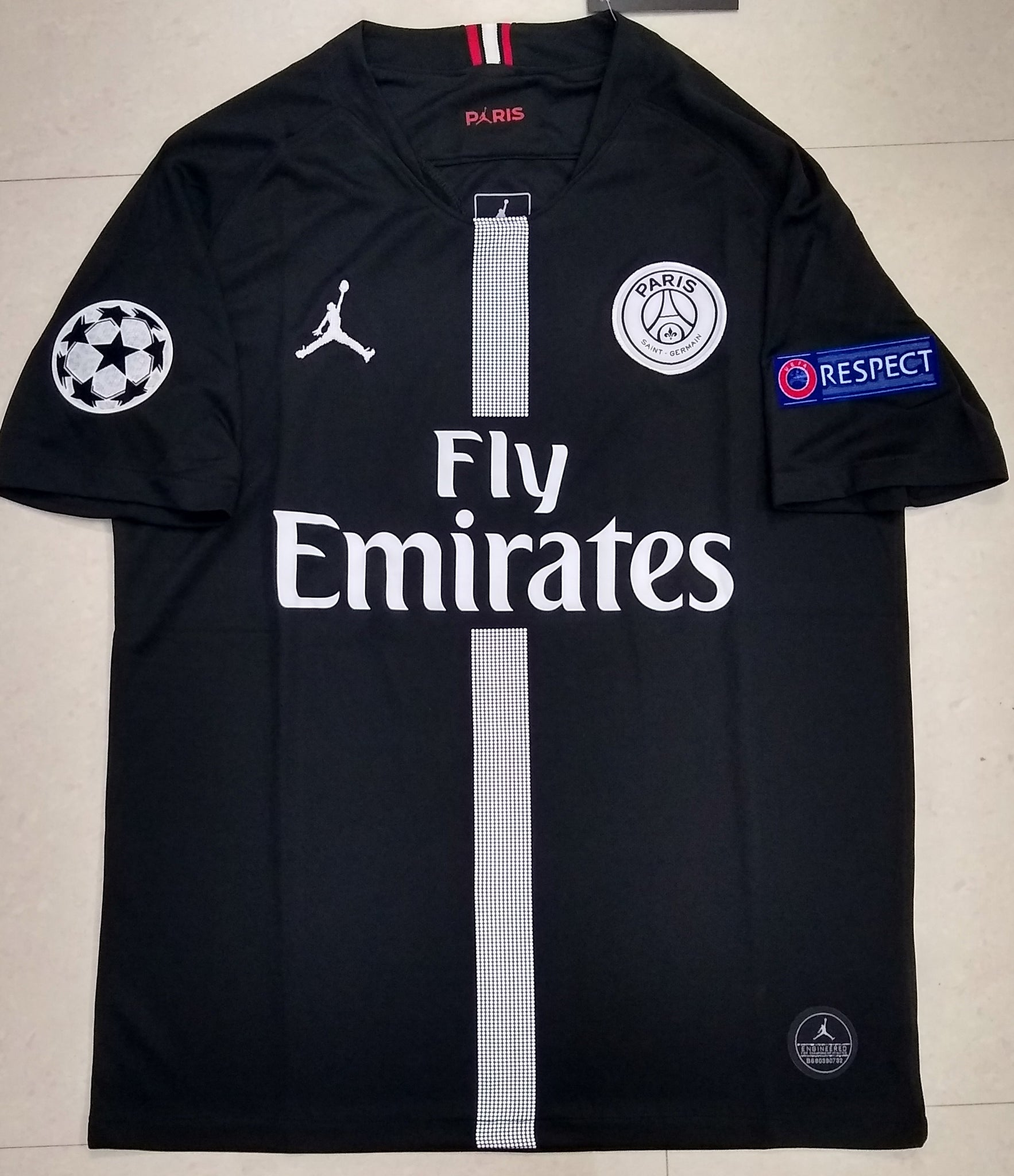 best sneakers 48ab6 28250 Original Jordan X Black PSG Champions League Edition Jersey 2018-19  [Superior Quality]