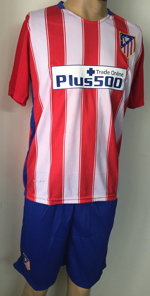 Atletico Madrid Home Football Jersey and Shorts 2015-16