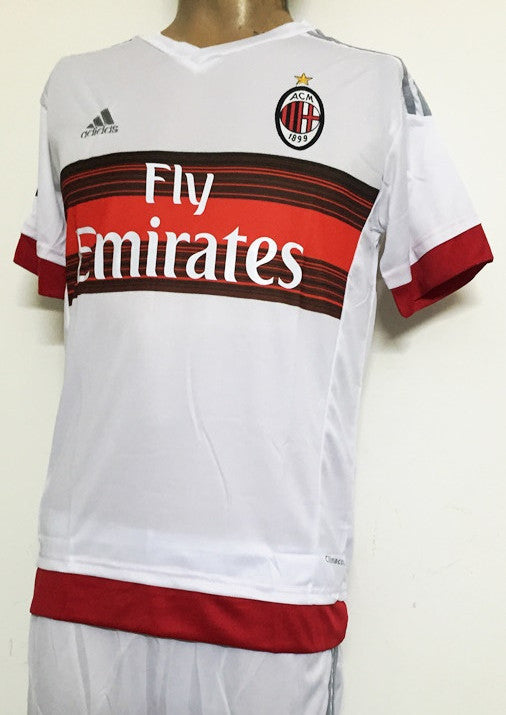 AC Milan Away Football Jersey and Shorts
