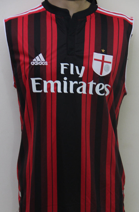 B.C Milan home Sleeveless Football Jersey2