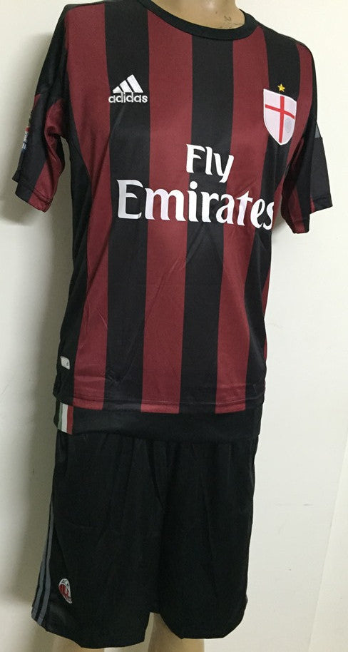 AC Milan Home Football Jersey and Shorts 2015-16