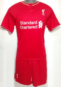 Liverpool Home Football Jersey and Shorts
