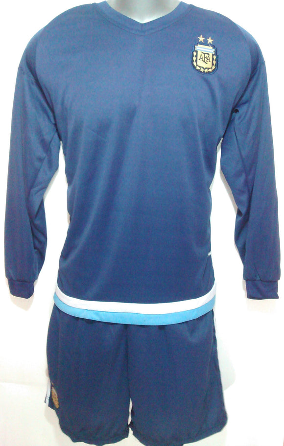 Argentina Away Full Sleeve Football Jersey & Short