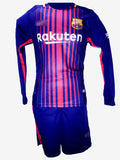 Barcelona Full Sleeves Jersey & Shorts Home 2017-18