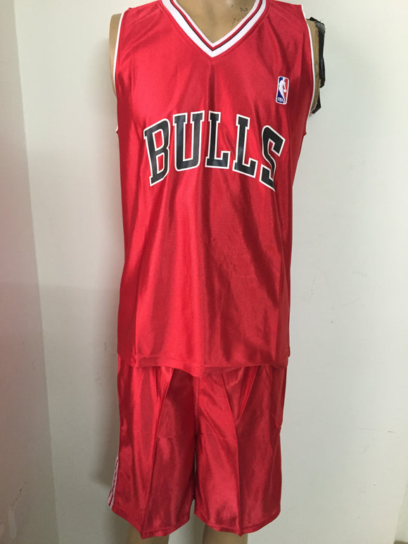 BasketBall Jersey and Shorts -Bulls