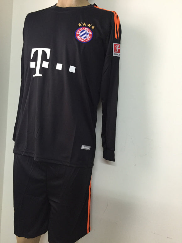 Bayern Munich Away Full Sleeve Football Jersey Shorts 2015-16
