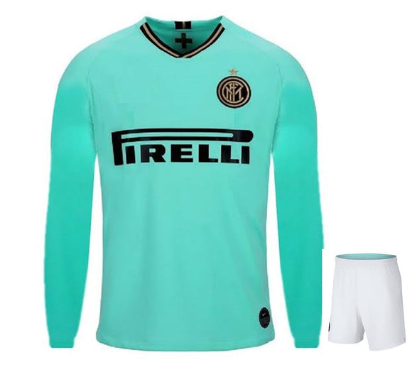 Original Inter Milan Full Sleeve Premium Away Jersey & Shorts [Optional] 2019/20