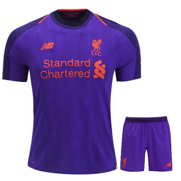 Original Liverpool Away Jersey & Shorts [Optional] 2018-19