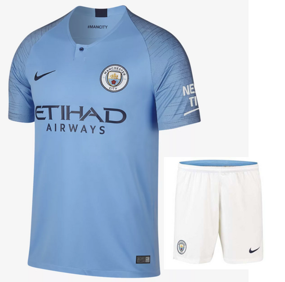 Original Manchester City Premium Home Jersey & Shorts [Optional] 2018-19