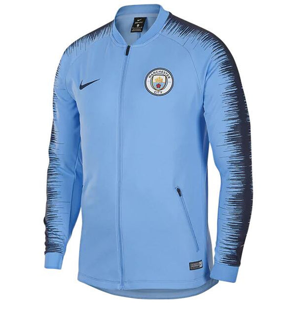 Original Manchester City Premium Zipper Sky Blue 2018-19